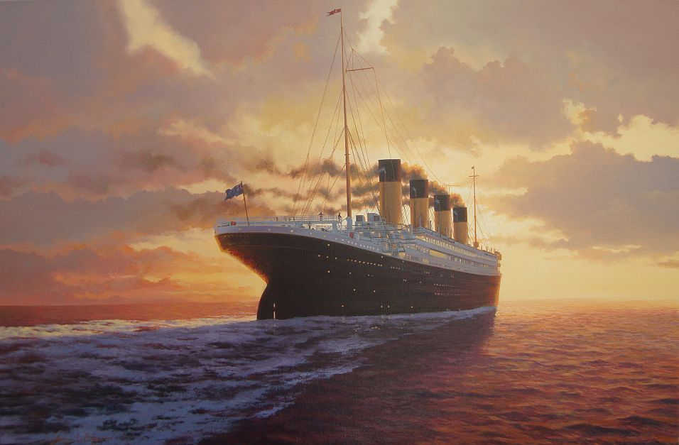 this is the titanic painting final farewell