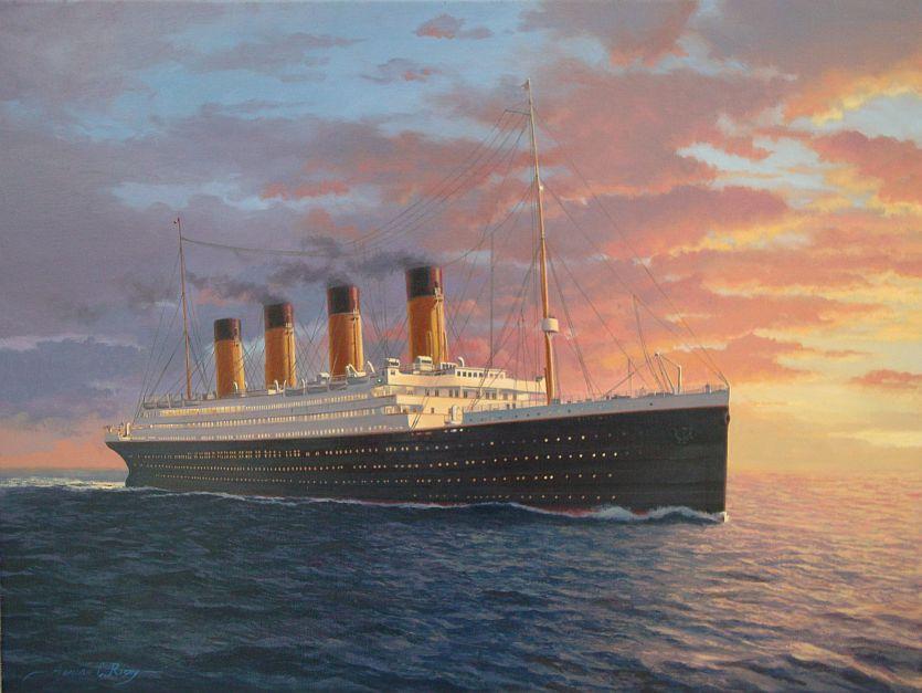 Original Titanic Paintings for sale, Titanic Art by Titanic artist ...
