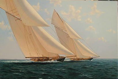 this is<i>America's Cup painting, sold</i> Americas Cup