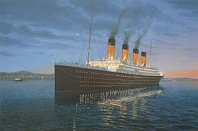 this is <i>Titanic Art for sale</i> magnificent ship of dreams
